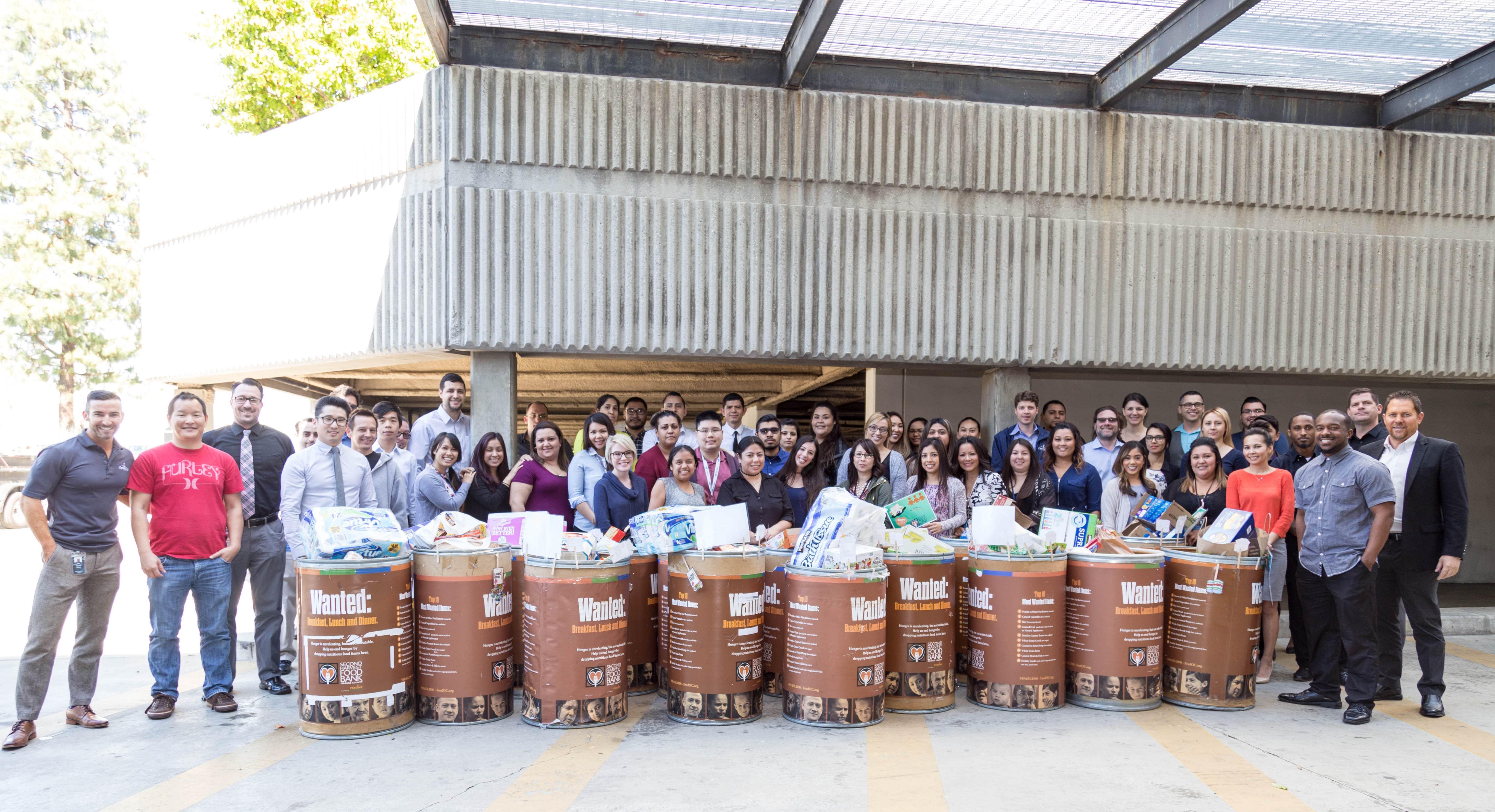 big group photo at facility