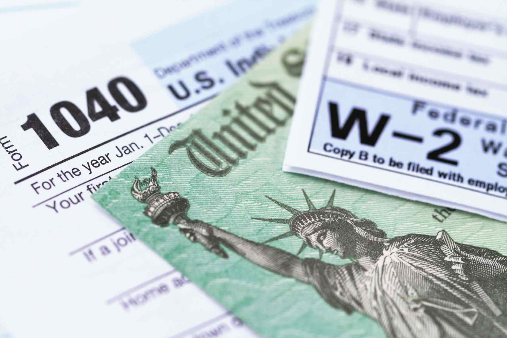 1040 and W2 tax forms